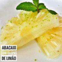 Abacaxi com Raspas de Limão